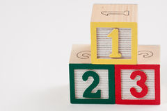Number Blocks with white space Stock Photography