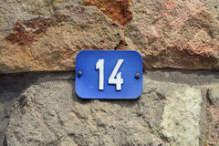 Number 14 Royalty Free Stock Photography