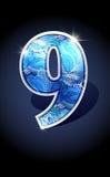 Number blue shine design Stock Image