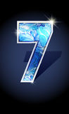 Number blue shine design Royalty Free Stock Photo