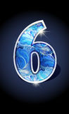 Number blue shine design Royalty Free Stock Images