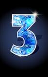 Number blue shine design Stock Images