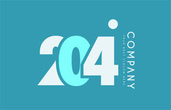 Number 204 blue white cyan logo icon design Royalty Free Stock Photos