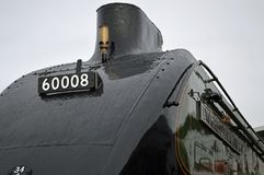 Close up of number Eisenhower at the great goodbye Shildon. 60008 number board on Dwight D Eisenhower is an LNER Class A4 steam locomotive named after the United stock photography