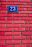 Number on brick wall Royalty Free Stock Photography