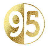 Number 95. In bright gold Stock Image
