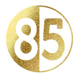 Number 85. In bright gold Stock Photos