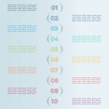 Number Bullet Points In Circle Shadows  Infographic Template Stock Image