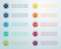 Number Bullet Points 1 to 10 B Royalty Free Stock Photos