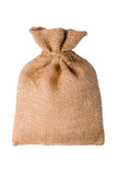 Number burlap sack isolated on a white background with empty space Royalty Free Stock Image