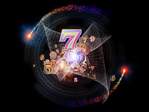 Number Burst Royalty Free Stock Images
