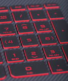 Number button on keyboard of laptop Stock Photos