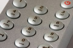 Number buttons. On a remote controler Stock Photography