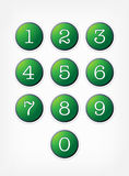 Number buttons. Vector set. Stock Images
