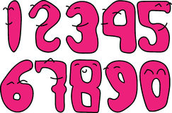 The Number can smile. Pink numbers can show smile Royalty Free Stock Images