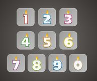 Number candle button Royalty Free Stock Photo