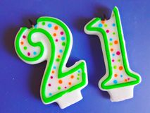 Number candles Stock Image