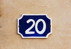 Number 20 Stock Photography