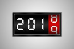 Number 2018 change to number 2019 stock image