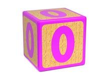 Number 0 - Childrens Alphabet Block. Stock Photos