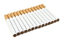 Number of cigarettes Stock Photos