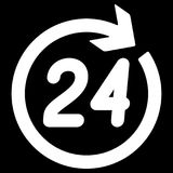 Number 24 in the circular arrow. Royalty Free Stock Photos
