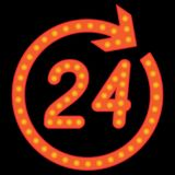 Number 24 in the circular arrow. Stock Image