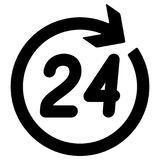 Number 24 in the circular arrow. Vector illustration Stock Photography