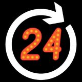 Number 24 in the circular arrow. Vector illustration Stock Photos