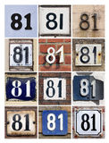 Number 81 Royalty Free Stock Image