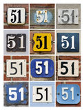 Number 51 Stock Image