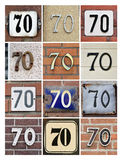 Number 70 Stock Image