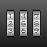 Number combination lock Royalty Free Stock Photos