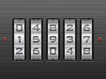 Number combination lock background Royalty Free Stock Images