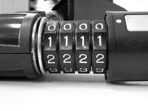 Number combination lock Royalty Free Stock Image