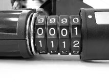 Number combination lock Royalty Free Stock Photography