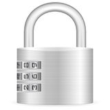 Number combination padlock Stock Photography