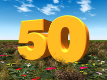 The Number 50 Royalty Free Stock Images