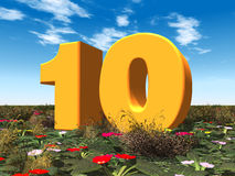 The Number 10 Stock Image