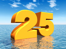 The Number 25 Royalty Free Stock Image