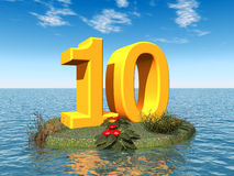 The Number 10 Royalty Free Stock Photography