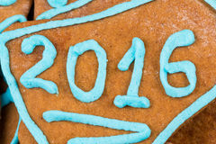 2015 number on cookie Stock Image