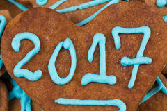 2017 number on cookie Stock Photos