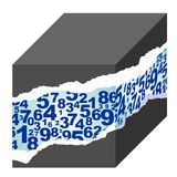 Number cube Royalty Free Stock Images