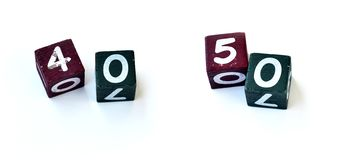 Number cubes 0027 Stock Images
