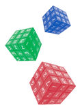 Number Cubes. On White Background Royalty Free Stock Photo