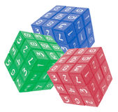 Number Cubes Royalty Free Stock Photography