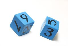 Number cubes Royalty Free Stock Photo
