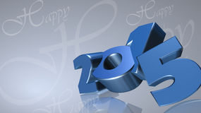 Number 2015 in 3D on gray background. Blue number 2015 in 3D on gray background - New Year - Christmas Card Stock Image