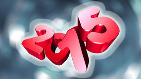 Number 2015 in 3D on gray background Royalty Free Stock Image